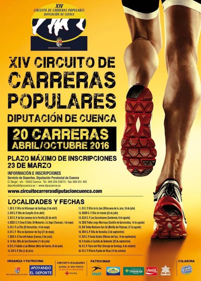 Circuito Carreras Populares Cuenca : Xiv circuito de carreras populares la excma diputaciÓn