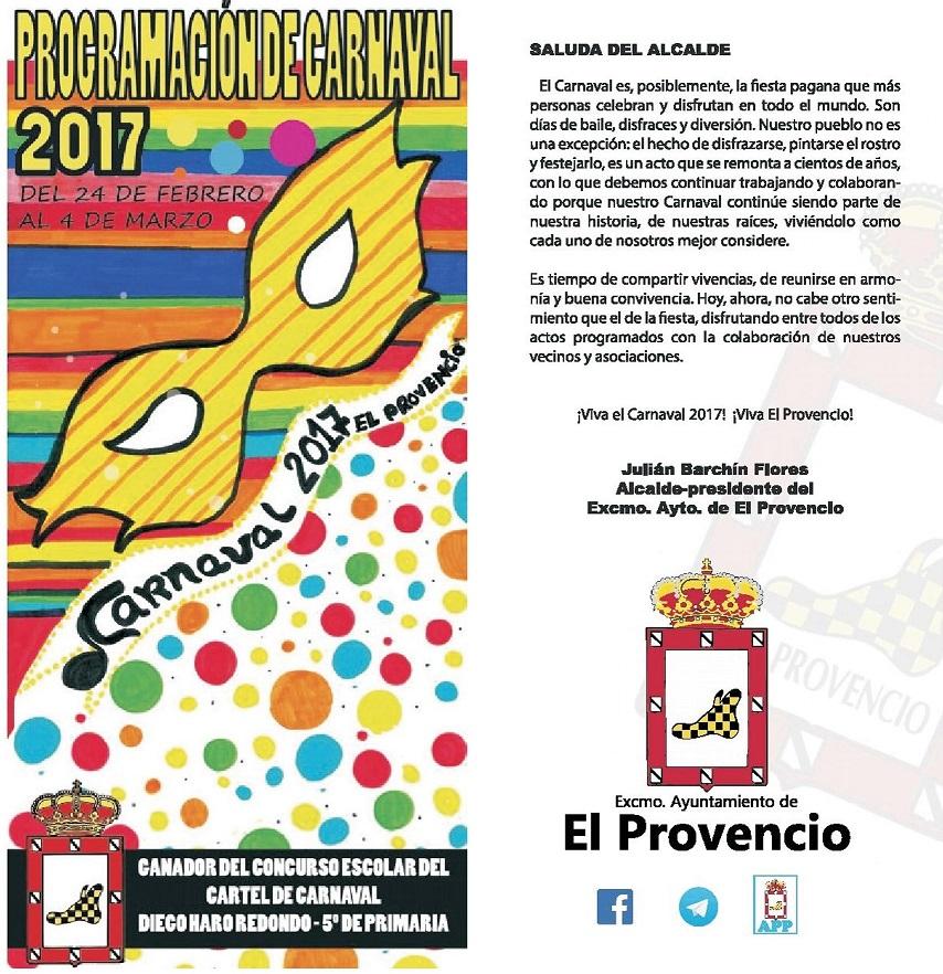 Programación del Carnaval 2017 en El Provencio