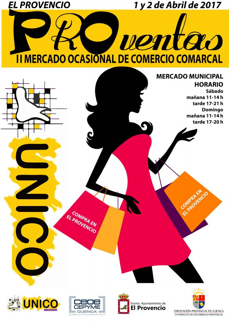 UNICO celebrará los días 1 y 2 de abril el II MERCADO OCASIONAL DE COMERCIO COMARCAL «PROventas»