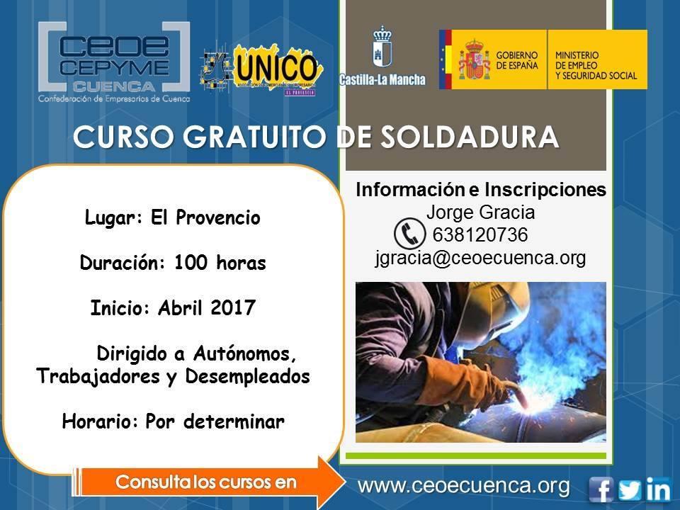 La Asociación Comarcal de Empresarios y Comerciantes UNICO oferta los cursos de SOLDADURA y AUTOCAD