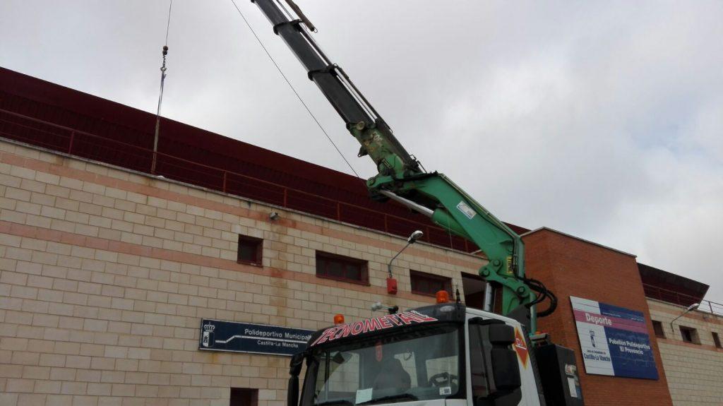 Rehabilitación de la terraza de nuestro pabellón polideportivo municipal