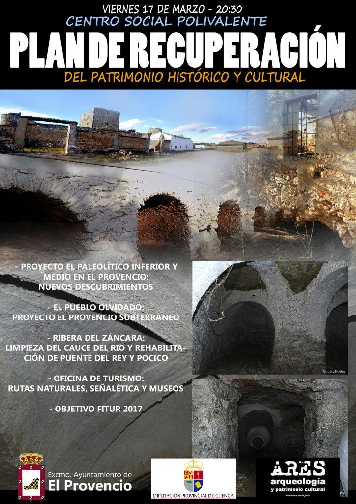 Presentación del PLAN DE RECUPERACIÓN DEL PATRIMONIO HISTÓRICO Y CULTURAL DE EL PROVENCIO