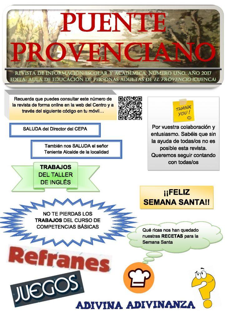 Presentación de la revista «Puente Provenciano», editada por el Aula de Educación de Personas Adultas de El Provencio