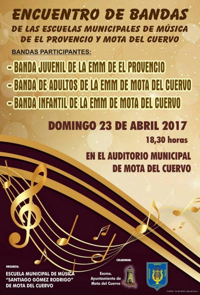 Encuentro de bandas de las escuelas municipales de música de El Provencio y Mota del Cuervo