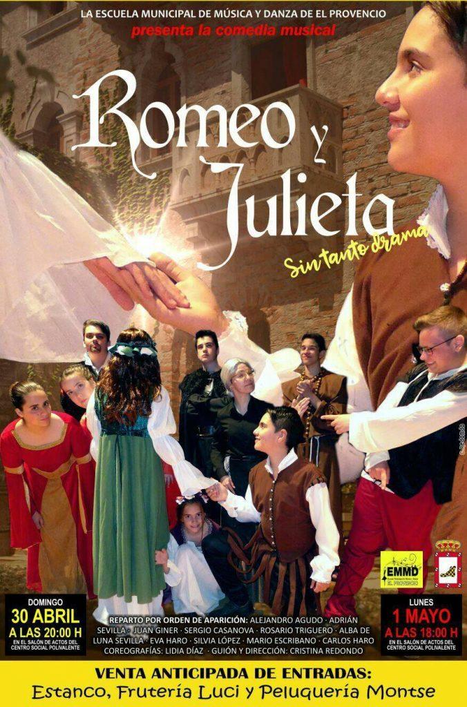 Nuestra Escuela Municipal de Música y Danza presenta su nueva comedia musical: «Romeo y Julieta, sin tanto drama»