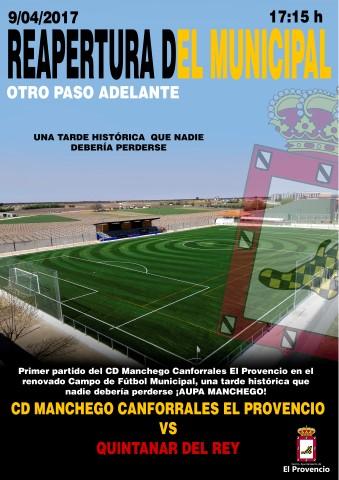 Reapertura del renovado Campo de Fútbol Municipal