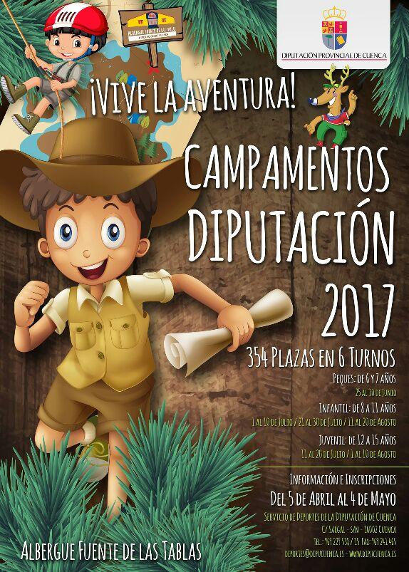 Abierto el plazo de inscripción a los CAMPOS DIPUTACIÓN 2017 (del 5 de abril al 4 de mayo)