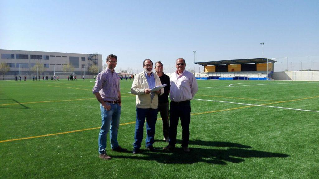 Recepción de la obra de instalación de césped artificial en nuestro campo de fútbol municipal