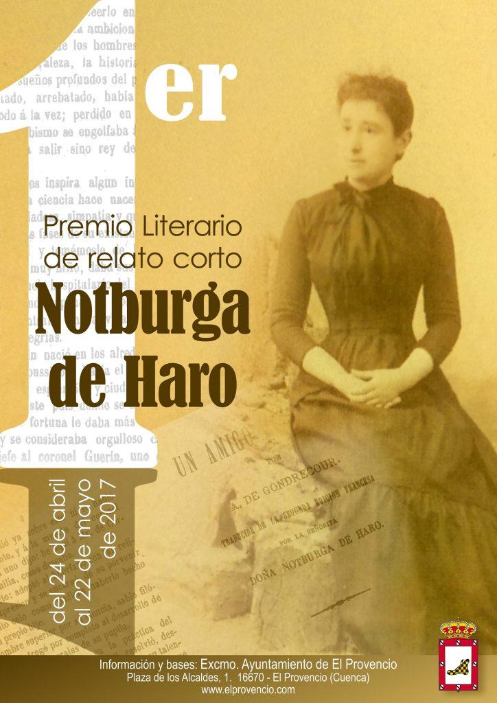 Convocatoria del PRIMER PREMIO LITERARIO DE RELATO CORTO «NOTBURGA DE HARO»