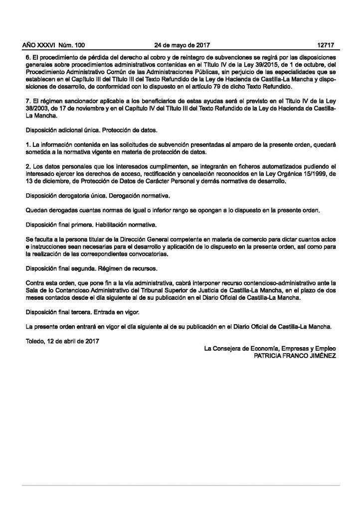 Publicadas las bases reguladoras de las ayudas destinadas a promover la celebración de ferias comerciales en Castilla-La Mancha