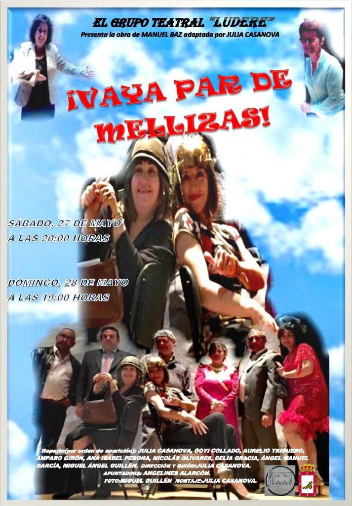 El Grupo Teatral Ludere de El Provencio presenta la comedia «Vaya par de mellizas»