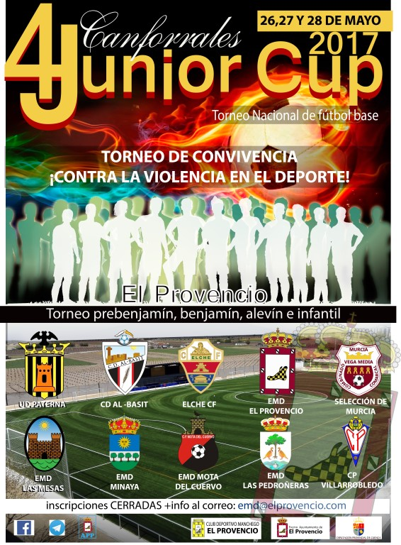 El próximo fin de semana se celebra la 4ª JUNIOR CUP CANFORRALES 2017, torneo nacional de fútbol base en El Provencio
