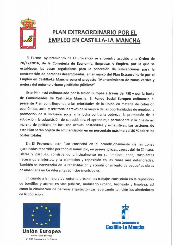 PLAN EXTRAORDINARIO POR EL EMPLEO EN CASTILLA-LA MANCHA
