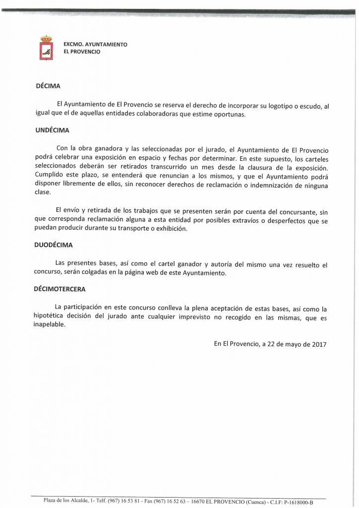Publicadas las BASES PARA EL CONCURSO DEL CARTEL ANUNCIADOR DE LA FERIA Y FIESTAS 2017