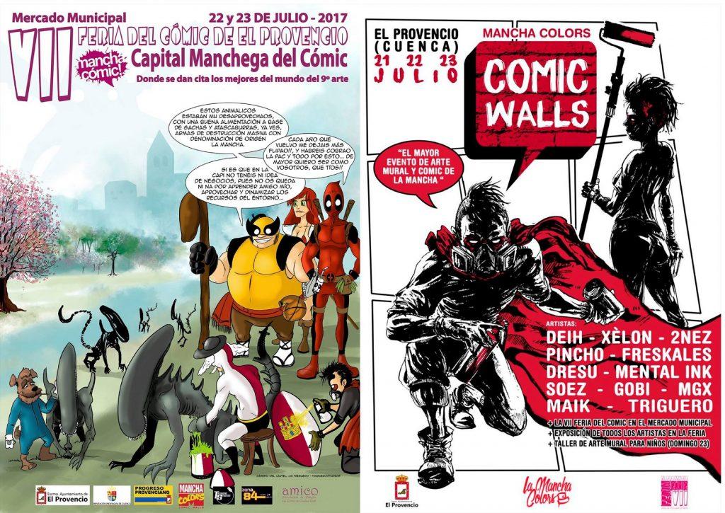 Programación de la VII Feria del Cómic y Cómic Walls que se celebrarán los días 22 y 23 de julio en El Provencio