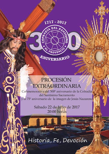 El próximo sábado día 22 de julio, procesión extraordinaria de la Cofradía del Santísimo Sacramento de El Provencio