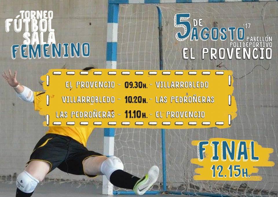 El próximo día 5 de agosto, en nuestro pabellón polideportivo, TORNEO DE FÚTBOL SALA FEMENINO