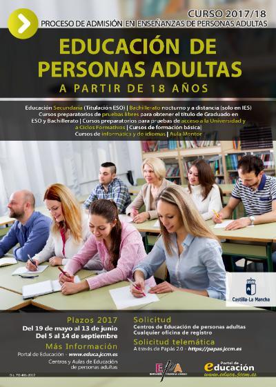 Plazo extraordinario para la inscripción en el Aula de Educación para Personas Adultas