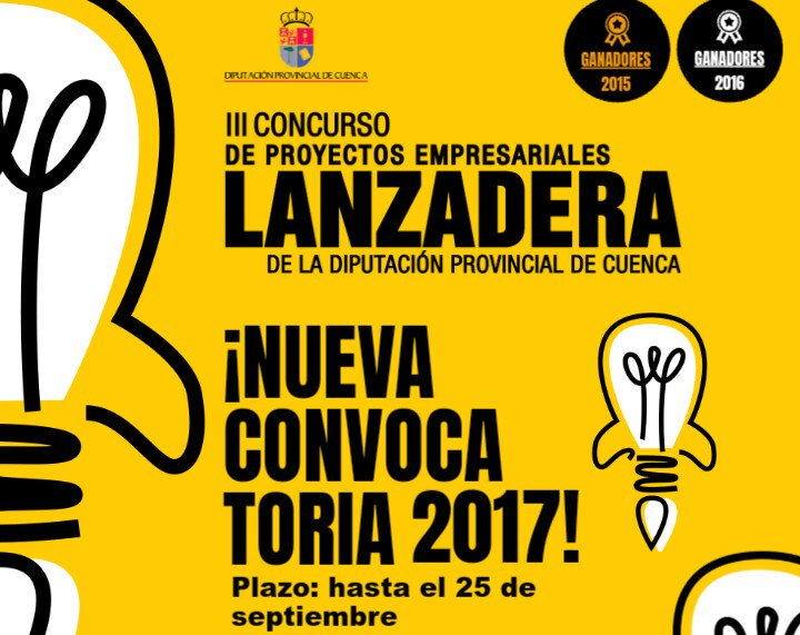 Convocado el III CONCURSO DE PROYECTOS EMPRESARIALES LANZADERA de la Diputación Provincial de Cuenca
