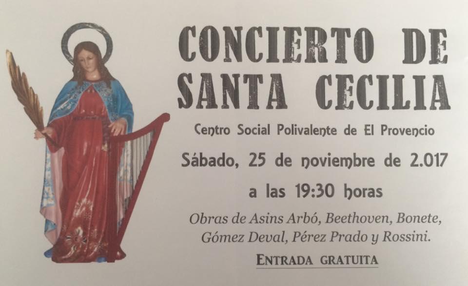 Mañana sábado día 25 de noviembre, a las 19:30 h, CONCIERTO DE SANTA CECILIA