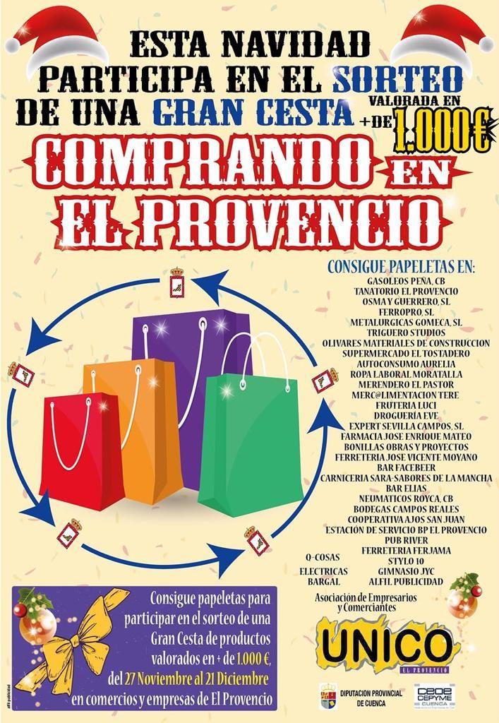 CAMPAÑA «LA GRAN CESTA DE NAVIDAD» organizada por la Asociación Comarcal de Empresarios y Comerciantes UNICO