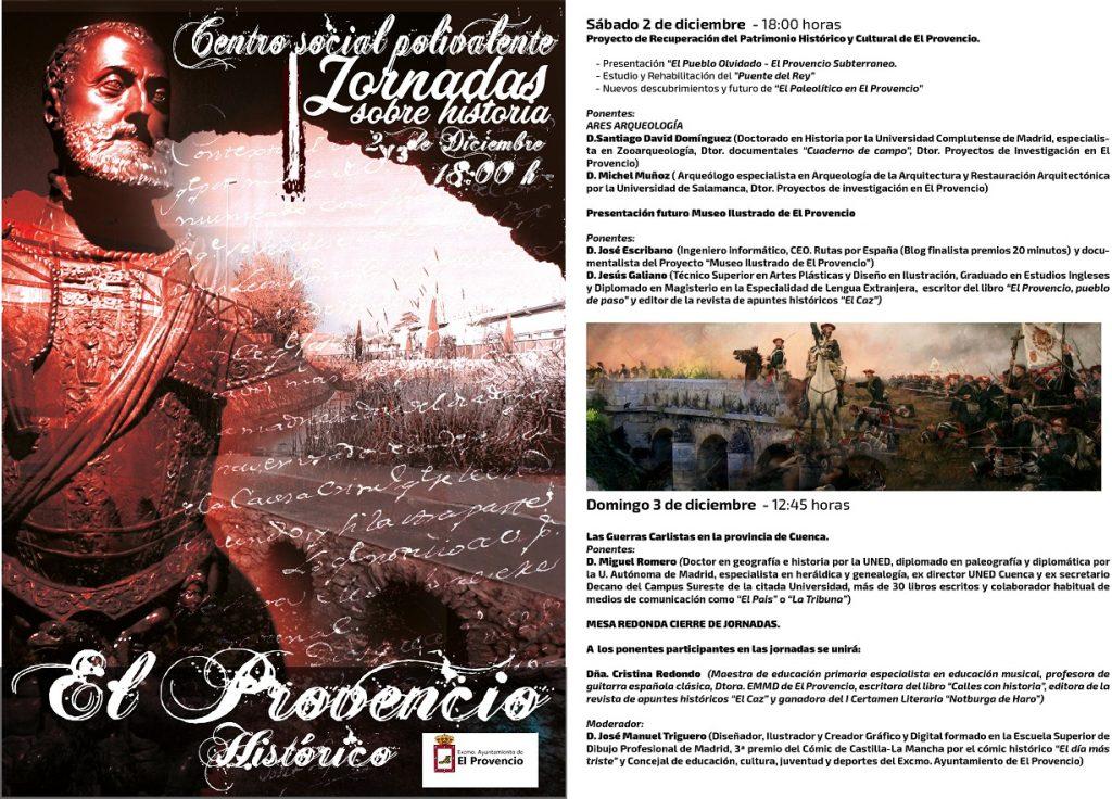 Programación de las I JORNADAS SOBRE HISTORIA «EL PROVENCIO HISTÓRICO»