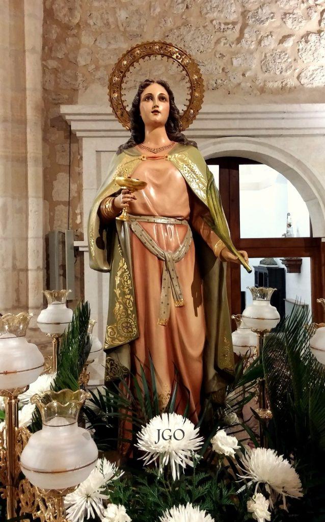 Mañana jueves día 13 de diciembre, procesión y misa en honor a Santa Lucía