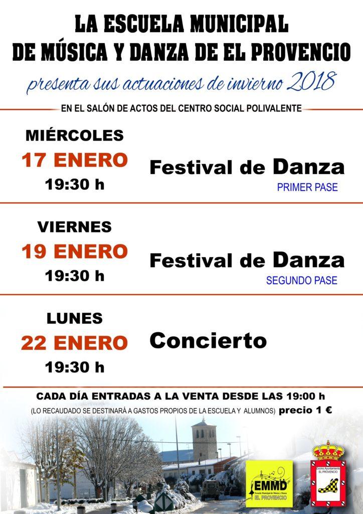 ¡Nuestra Escuela Municipal de Música y Danza ya está preparada para hacernos disfrutar con sus actuaciones de invierno!