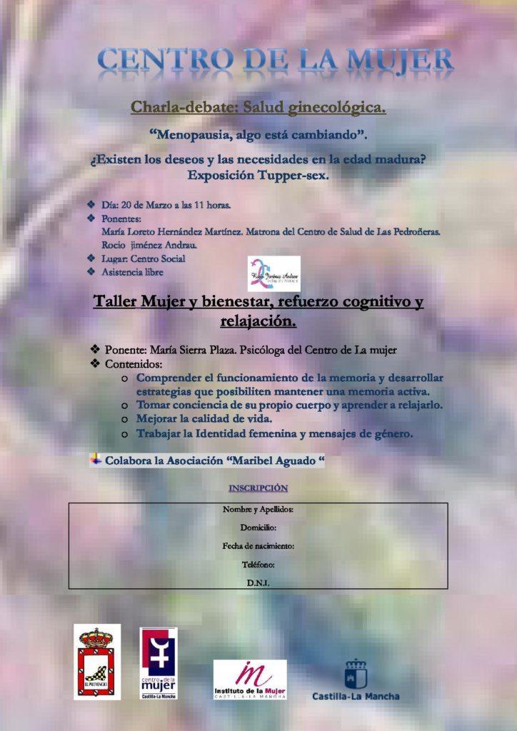 Próximas actividades organizadas por el Centro de la Mujer en El Provencio
