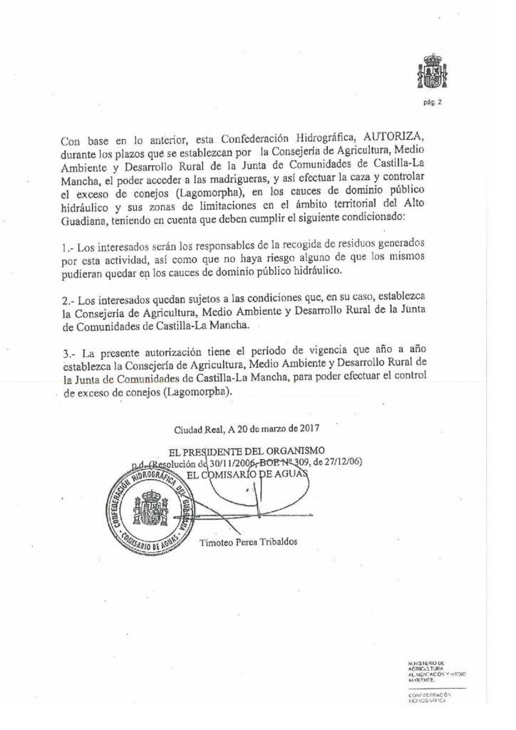 Información relativa a la declaración de comarca de emergencia cinegética temporal por daños de conejo de monte
