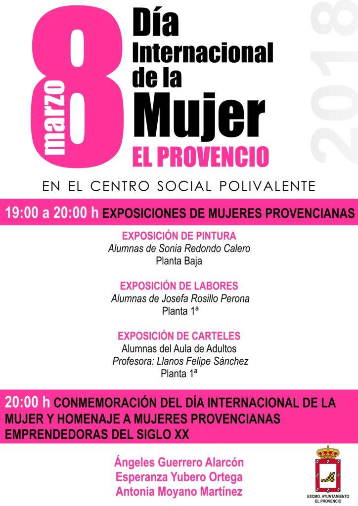 Actos programados con motivo de la celebración del Día Internacional de la Mujer en El Provencio