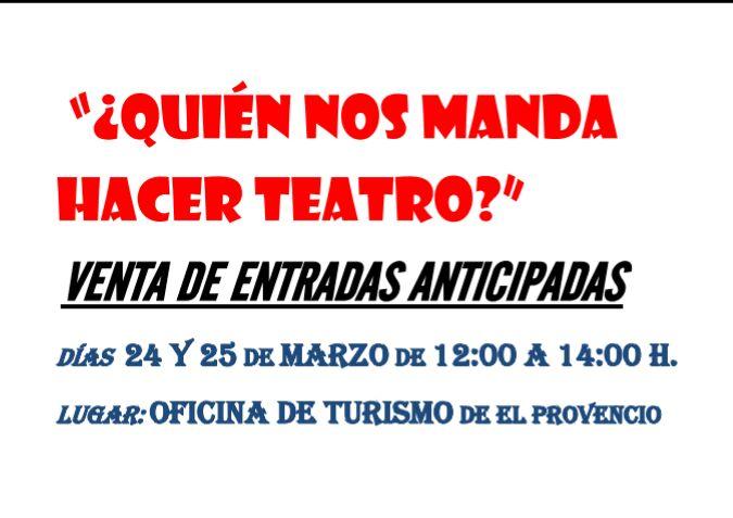 El Grupo Teatral Ludere de El Provencio presenta la comedia «¿Quién nos manda hacer teatro?»