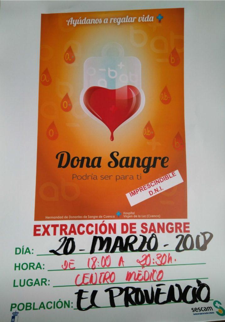 El martes día 20 de marzo acude a nuestro Centro de Salud y dona sangre