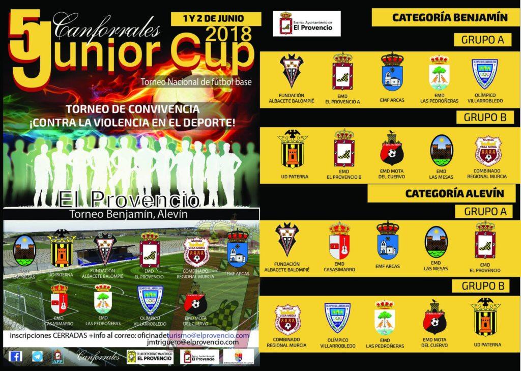 El viernes día 1 y sábado día 2 de junio se celebra la V CANFORRALES JUNIOR CUP – TORNEO NACIONAL DE FÚTBOL BASE