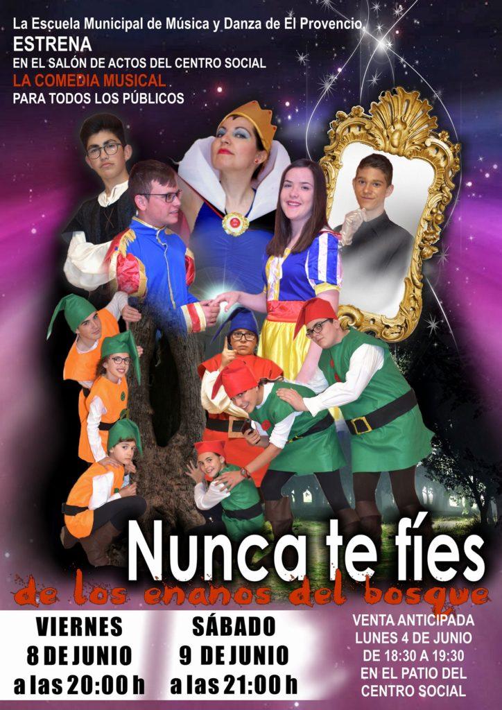 Nuestra Escuela Municipal de Música y Danza presenta su nueva comedia musical: «Nunca te fíes de los enanos del bosque»