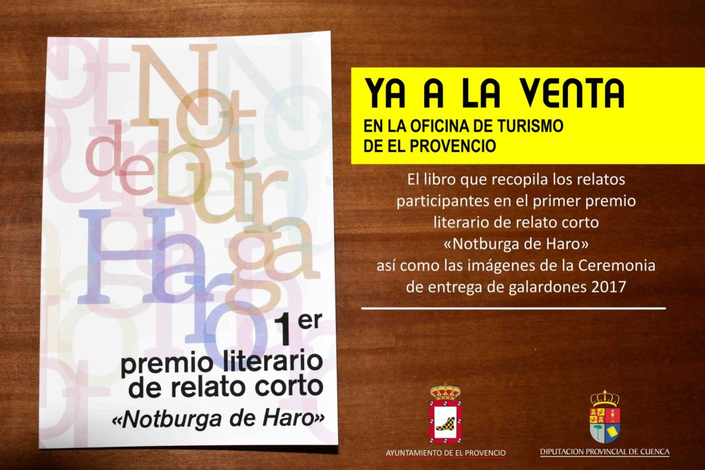Ya está a la venta en nuestra Oficina de Turismo el libro de la 1ª edición del PREMIO LITERARIO DE RELATO CORTO «NOTBURGA DE HARO»