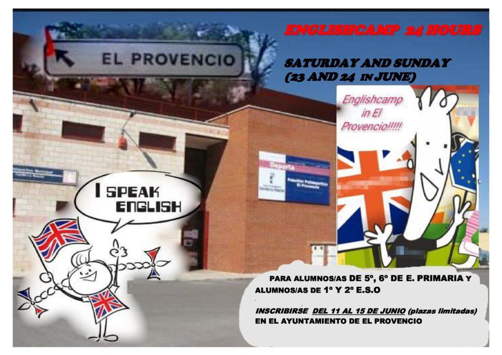 El fin de semana de los días 23 y 24 de junio, ¡ENGLISHCAMP 24 HOURS en El Provencio!