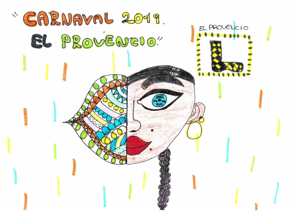 Ganadora del concurso del cartel anunciador del CARNAVAL 2019