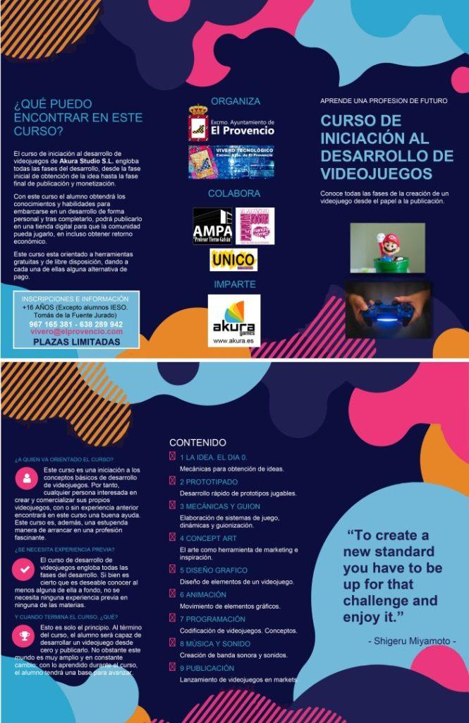 CURSO DE INICIACIÓN AL DESARROLLO DE VIDEOJUEGOS