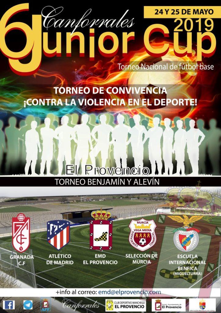 CARTELÓN INICIAL DE LA CANFORRALES JUNIOR CUP 6 DE EL PROVENCIO