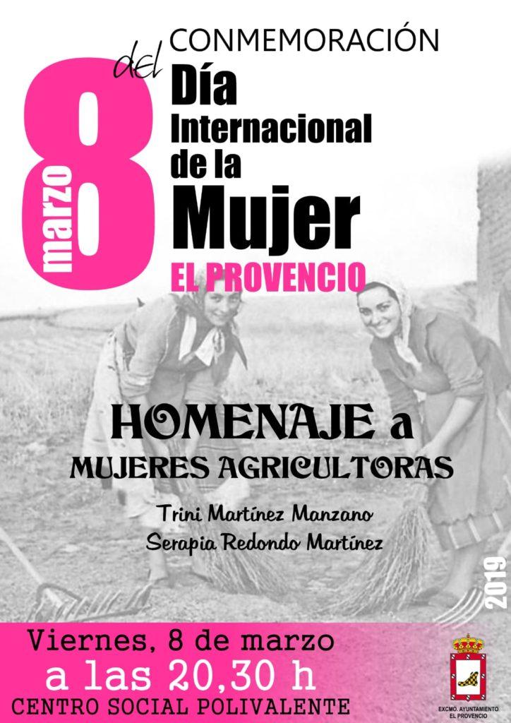 Nuestro Excmo. Ayuntamiento homenajeará la figura de dos mujeres agricultoras con motivo del Día Internacional de la Mujer