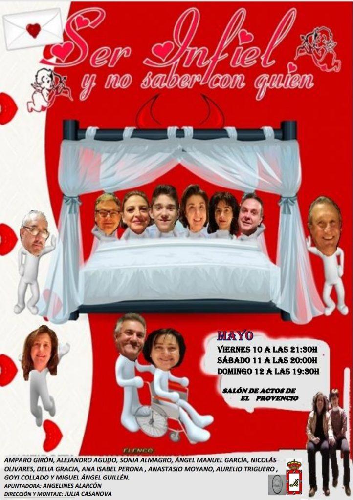 El Grupo Teatral Ludere de El Provencio presenta la comedia «Ser infiel y no saber con quién»
