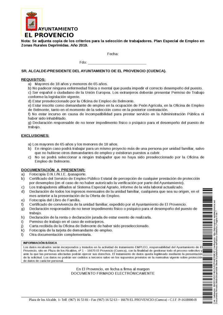 CONVOCATORIA PARA LA CONTRATACIÓN, EN RÉGIMEN LABORAL TEMPORAL, DE 9 PUESTOS DE TRABAJO DE PEÓN AGRÍCOLA