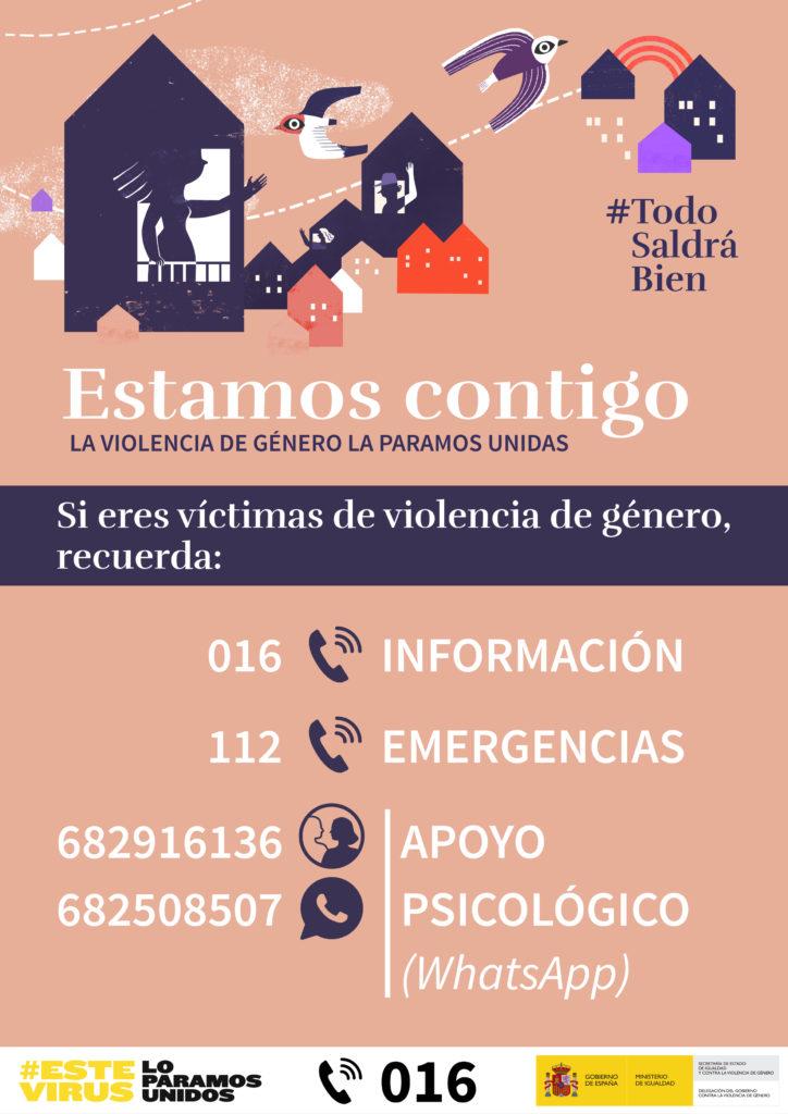 INFORMACIÓN: TELEFONOS DE AYUDA POR VIOLENCIA DE GÉNERO