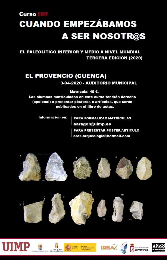 """III Curso """"El Paleolítico inferior y medio a NIVEL MUNDIAL"""" de la Universidad Internacional Menéndez Pelayo"""